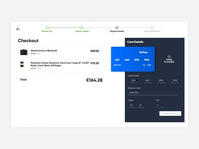 Credit Card Checkout ecommerce card credit development web interaction dailyui ui design