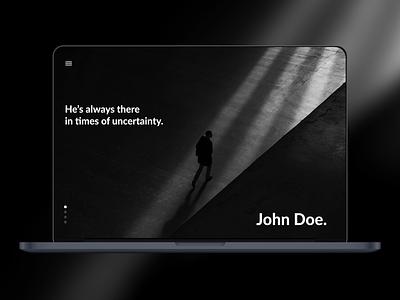 John Doe - Landing Page website website landing web design web landing page doe john dailyui 003 design dailyui ui