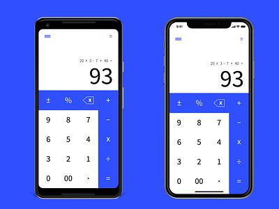 Calculator UI dailyui 004 pixel iphone x iphone ios android calculator design dailyui ui