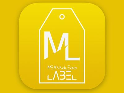 App Icon - Clothing Label dailyui 005 grid golden ration grid icon app clothing label ios iphone design dailyui ui