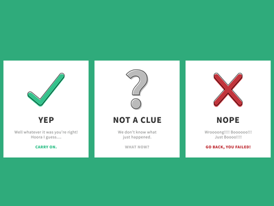 Flash Cards states clue a not nope yep cards flash cards design ui