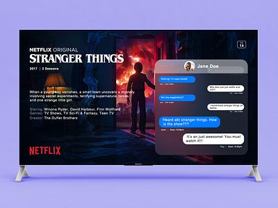 TV Messaging App screen app messaging message app message tv design ui