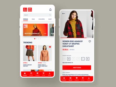 Uniqlo Mobile App Concept