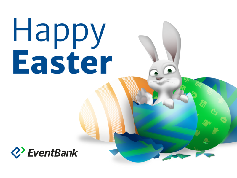 Happy Easter! vector b2b illustration egg hunt sketch easter bunny egg marketing