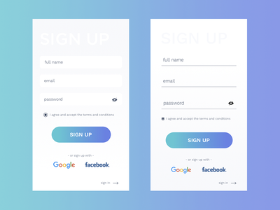 Sign up #001 uidesign signup challenge 001 dailyui