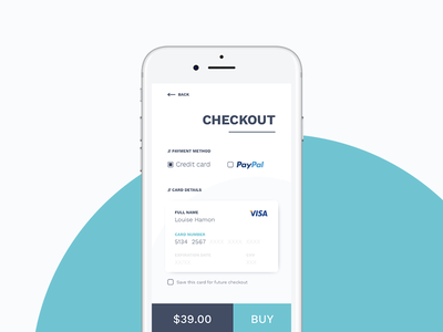 Credit Card Checkout #002 uidesign creditcard checkout challenge 002 dailyui
