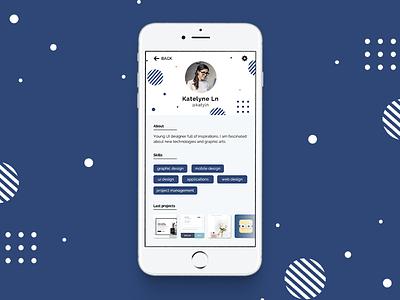 [ Daily UI ] Challenge #006 uidesign dailyui challenge user profile 006