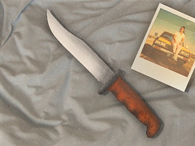 My Valuable Hunting Knife gbv guided by voices knife hunting knife illustration polaroid