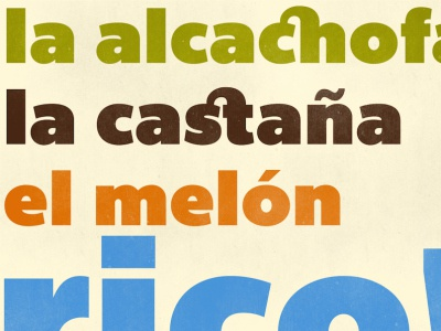 ¡Que rico! bemio joe prince lost type specimen typeface type design spanish