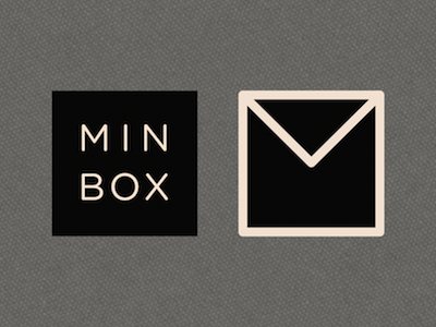 Minbox email web web app logo mark branding identity logo design gotham rounded stroke rounded box square