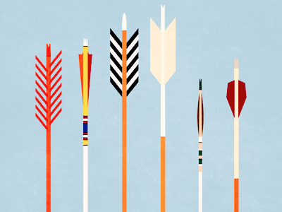 Arrows illustration arrows archery geometric vintage