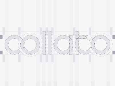 Collato logo creation progress ice-cream collaboration logo branding logotype