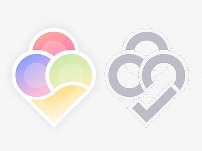 Ice-cream prototype logo collaboration circles figma logotype branding logo