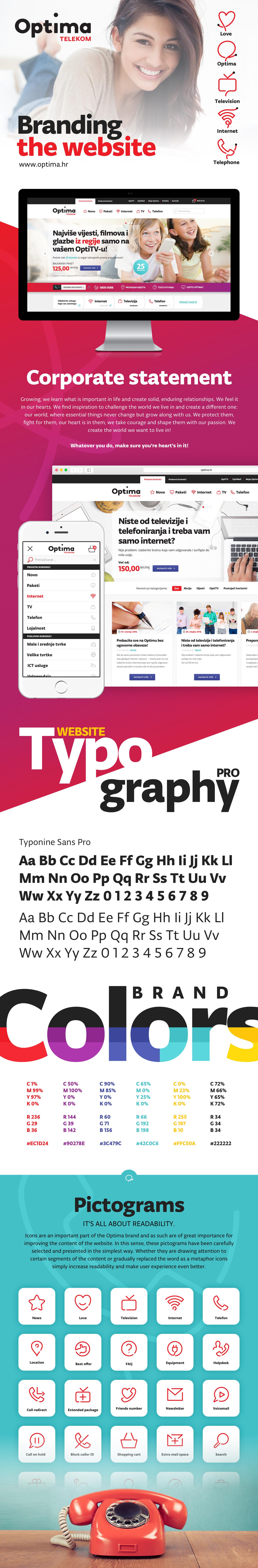 Optima branding website