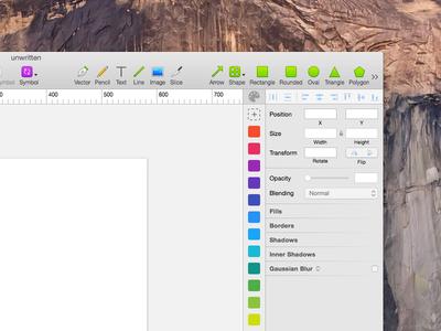 Sketch app - custom color panel