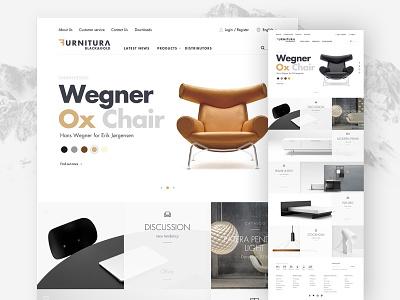 Furniture website (Black&Gold) gold black wireframe website style sofa room product modern mockup furniture chair
