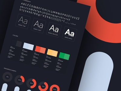 Brand Style Guide assembly scheme palette colors typography user interface ui kit ui style guide guidelines