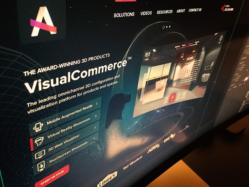 Virtual Reality Landing Page virtual reality vr 360 rotating apartment presentation 3d room goggles landing page