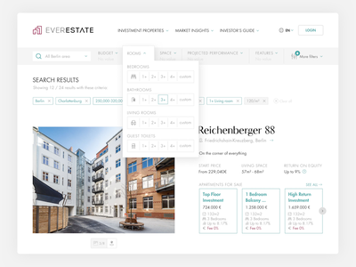 Search results with filters market berlin property filters results search real estate