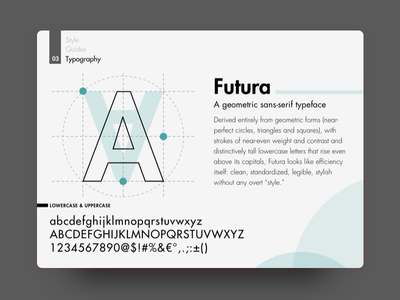 Typography - Building a Style Guide futura guideliness branding guide realestate branding font typogaphy style guides