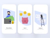 Money Saving App. (Onboarding Screens)