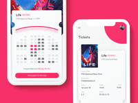 Movie App UI (Seats Booking and Ticket)