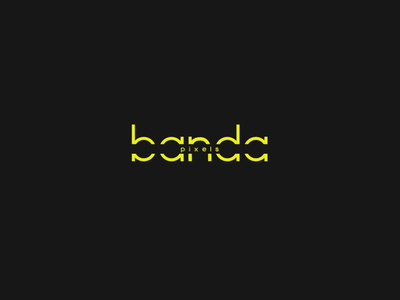 bandapixels logo animation brand identity branding preload aftereffects graphic  design yellow logo animation animation logo