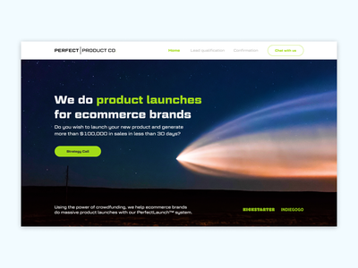 Perfect Product co green main page economic brands products typography ux ui design webdesign