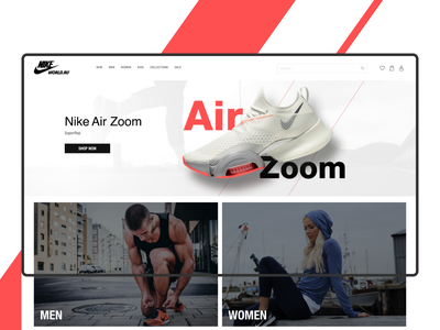 Nikeworld fullscreen uiux design webdesign nike sneakers shoes e-commerce shop