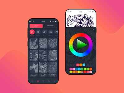 ColorCollab painting brushes painting color illustration dark app dark ui ux ui application
