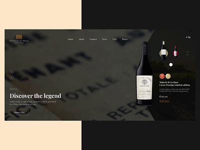 Test task for wine shop video slider vineyards ux ui animation wine webdesign