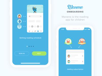 Maneno Kids Reading App Onboarding Screens Design