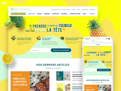 Web Design For Nutrition News Portal Optimyself