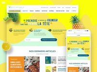 Web Design For Nutrition News Portal Optimyself