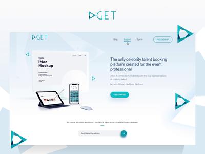 Web Design For Global Event Talent Promo Website