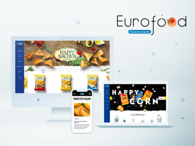 Corporate Website Design For Snacks Producer EuroFood