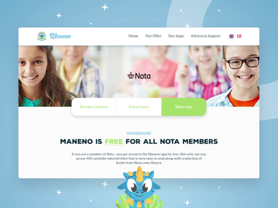 Web Design For Kids Reading App Maneno