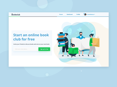 Web Design For Book Club