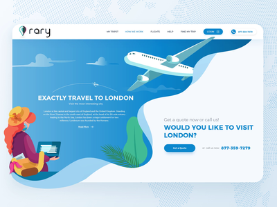 Redesign For A Travel Website motion color booking airplane travel app adobephotoshop blue and white banner flatdesign vector illustration ui webdesign travel