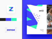9 second long Visual Identity Story ⏳ design color color palette vi ci visual identity identity design event animation motion business card logotype logo corporate style z zense brand identity