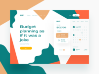 The summer is coming to an end 🌞 finance website summer finance app header website main page landing page product page product design visual identity identity branding color ui fintech finance