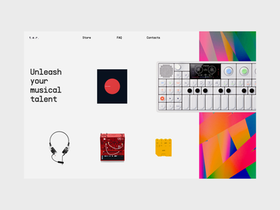 t.e.r. - an effortless way to create music.  🎹 landing page website product page