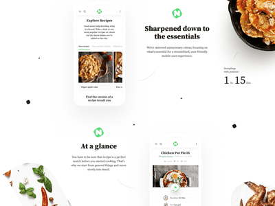 Food spin me right round 🌽 product page landing page dashboard new nourish lifestyle blog color food motion animation interactive sanfrancisco interaction
