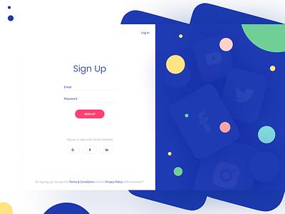 Simple signup page 🔑 socials color login signin signup design card