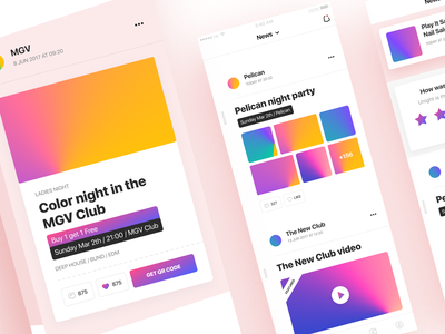 For the party lovers 🌙 ui ux application mobile unight party design app ios ui color