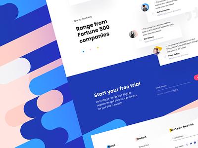 Brandmates — landing page 👑 website graphic ui ux bold font brandmates color testimonials landing page