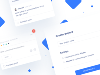 Project management UI elements #3 💙 tool teampaper team paper project manager tool web tasks ui ui  ux teampaper snap blue project manager