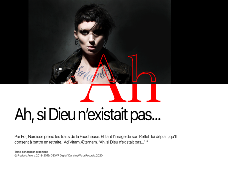 """AH SI DIEU N EXISTAIT PAS"", Little Novel... new logotype asics interactivity ui ux design behance digitaldancingwordsrecords adobe interactivity ui ux digital arvers frederic"