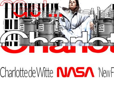 CHARLOTTE DE WITTE / DJ SET  @ NEW FORM / BRANDING typography dribble ux branding digital digitaldancingwordsrecords vector illustration logotype frederic arvers