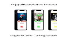 02 APPLICATIONS MOBILES typography dribble ux design ux ui digital branding digitaldancingwordsrecords arvers frederic